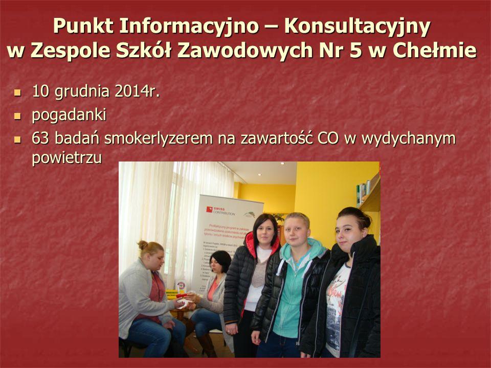 Punkt Informacyjno – Konsultacyjny w Zespole Szkół Zawodowych Nr 5 w Chełmie