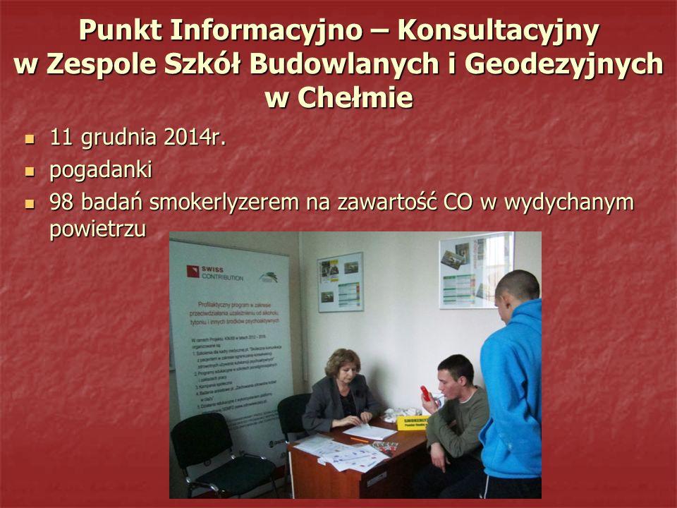 Punkt Informacyjno – Konsultacyjny w Zespole Szkół Budowlanych i Geodezyjnych w Chełmie
