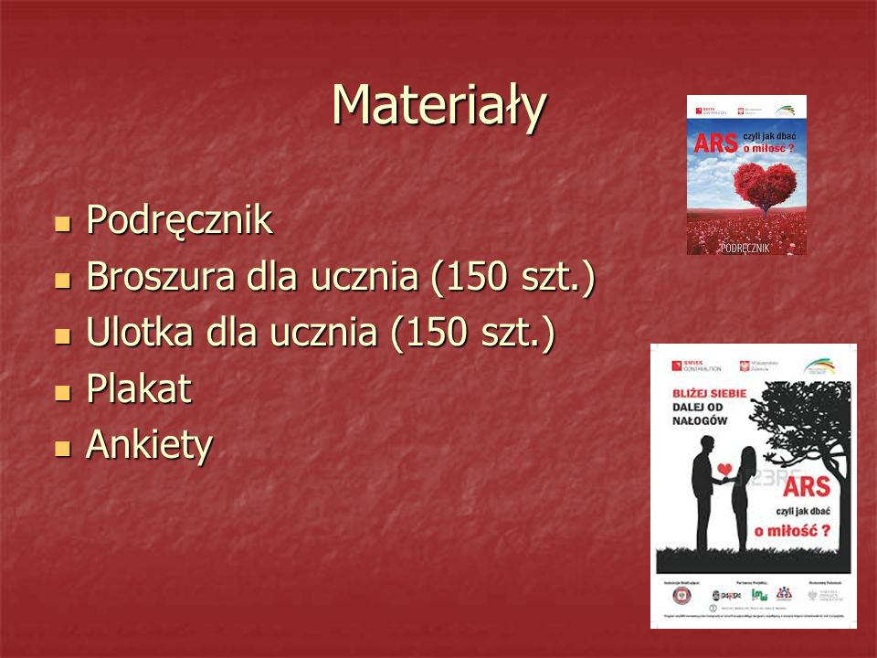 Materiały Podręcznik Broszura dla ucznia (150 szt.)