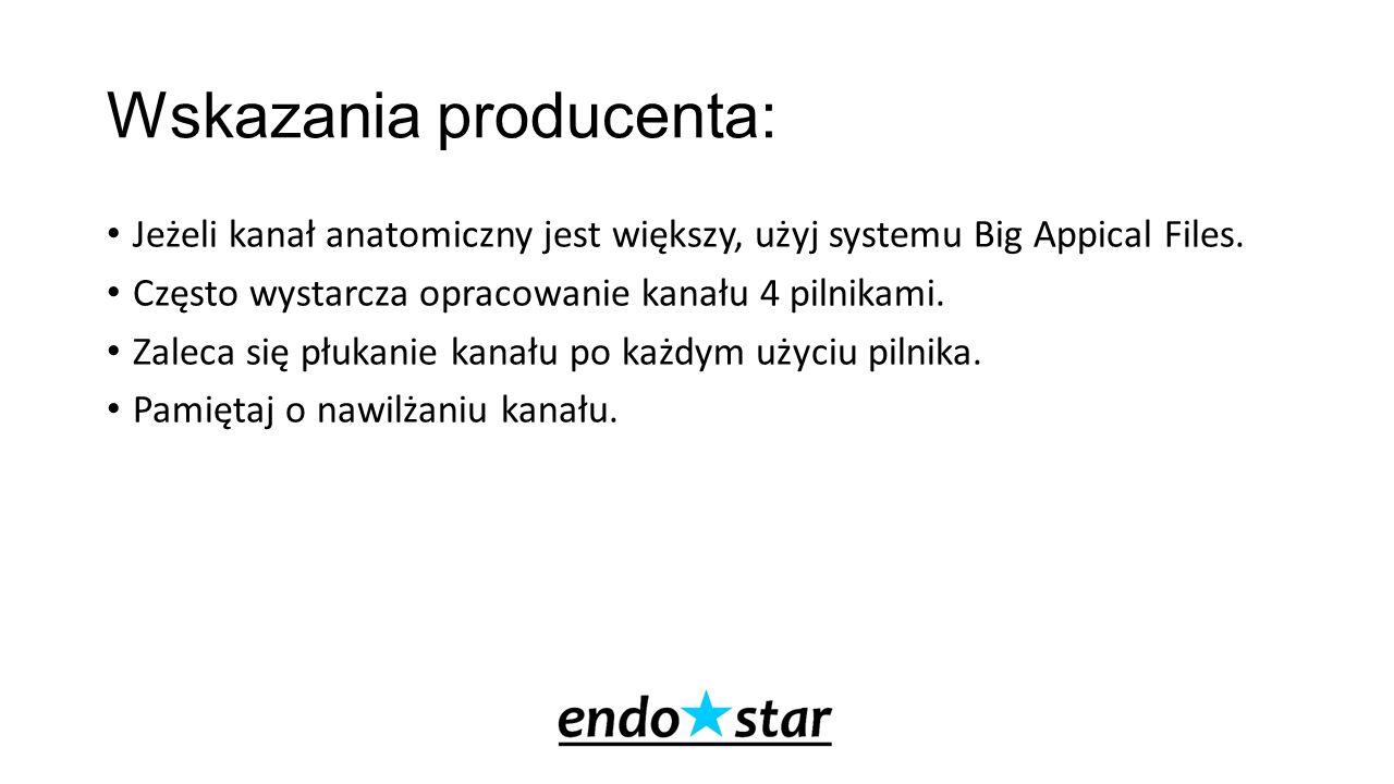 Wskazania producenta: