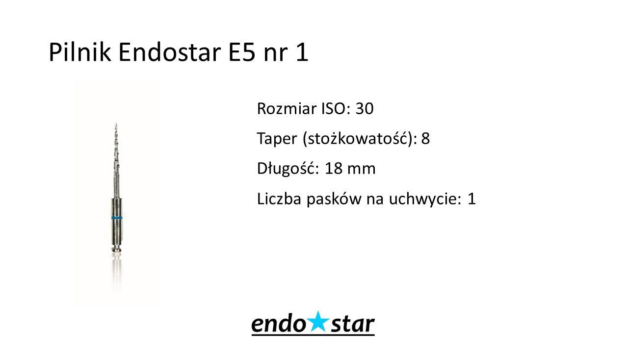 Pilnik Endostar E5 nr 1 Rozmiar ISO: 30 Taper (stożkowatość): 8