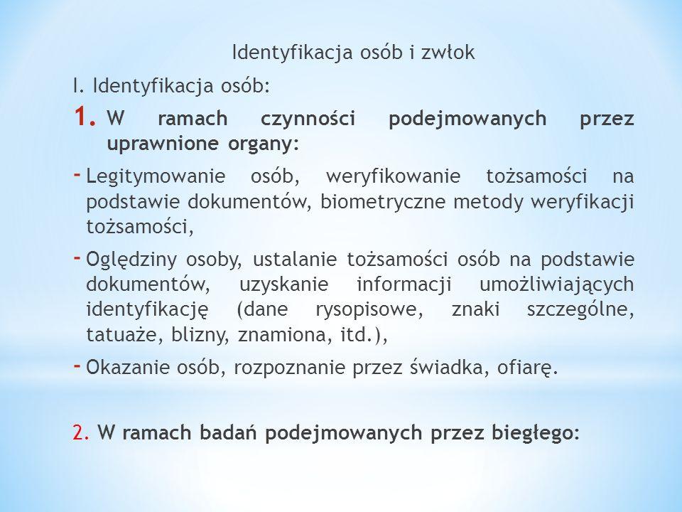 Identyfikacja osób i zwłok