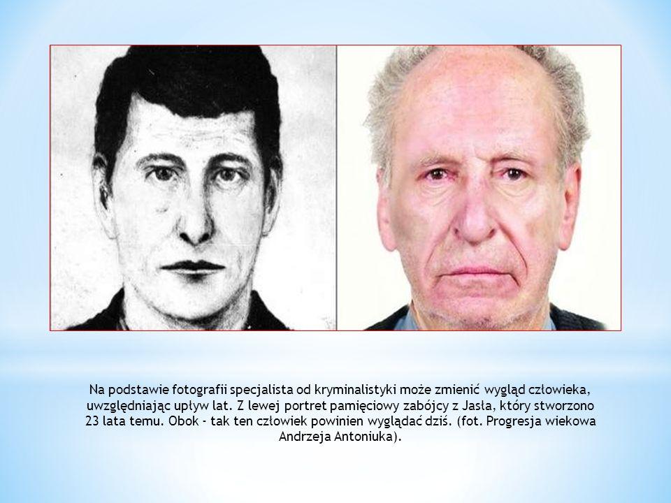 Na podstawie fotografii specjalista od kryminalistyki może zmienić wygląd człowieka, uwzględniając upływ lat.