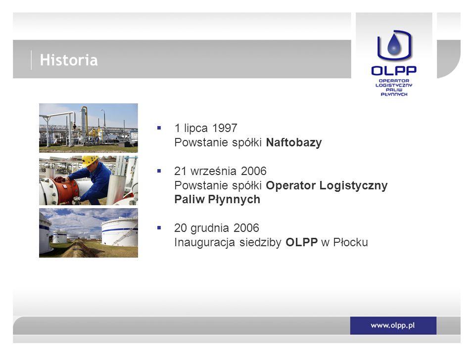 Historia 1 lipca 1997 Powstanie spółki Naftobazy