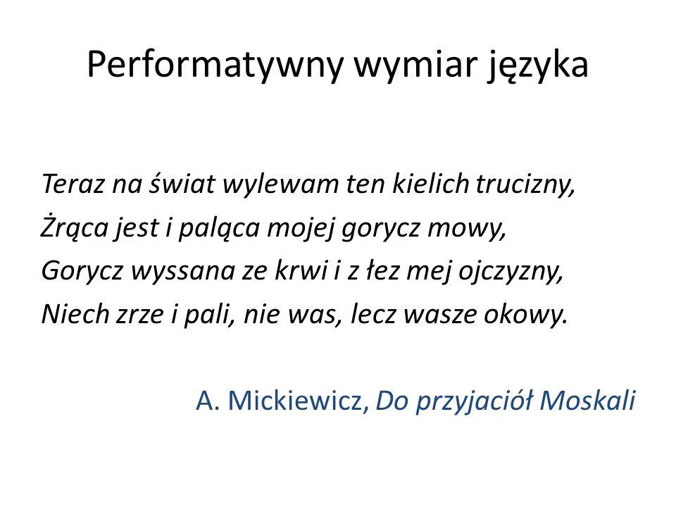 Performatywny wymiar języka