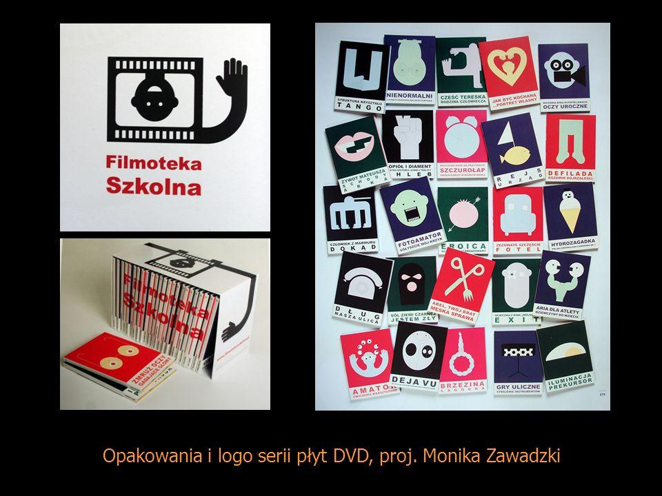 Opakowania i logo serii płyt DVD, proj. Monika Zawadzki