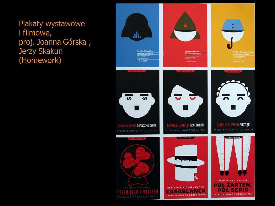 Plakaty wystawowe i filmowe, proj. Joanna Górska , Jerzy Skakun (Homework)
