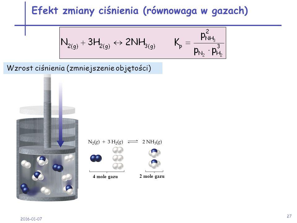 Efekt zmiany ciśnienia (równowaga w gazach)