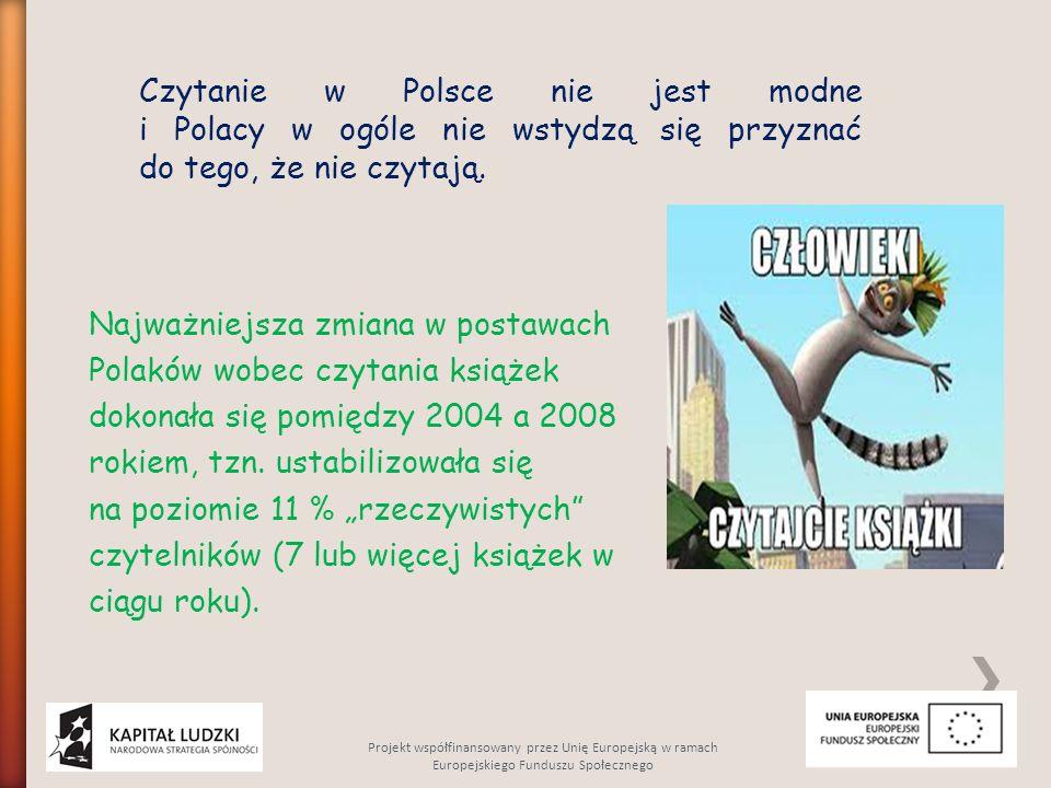 Czytanie w Polsce nie jest modne i Polacy w ogóle nie wstydzą się przyznać do tego, że nie czytają.