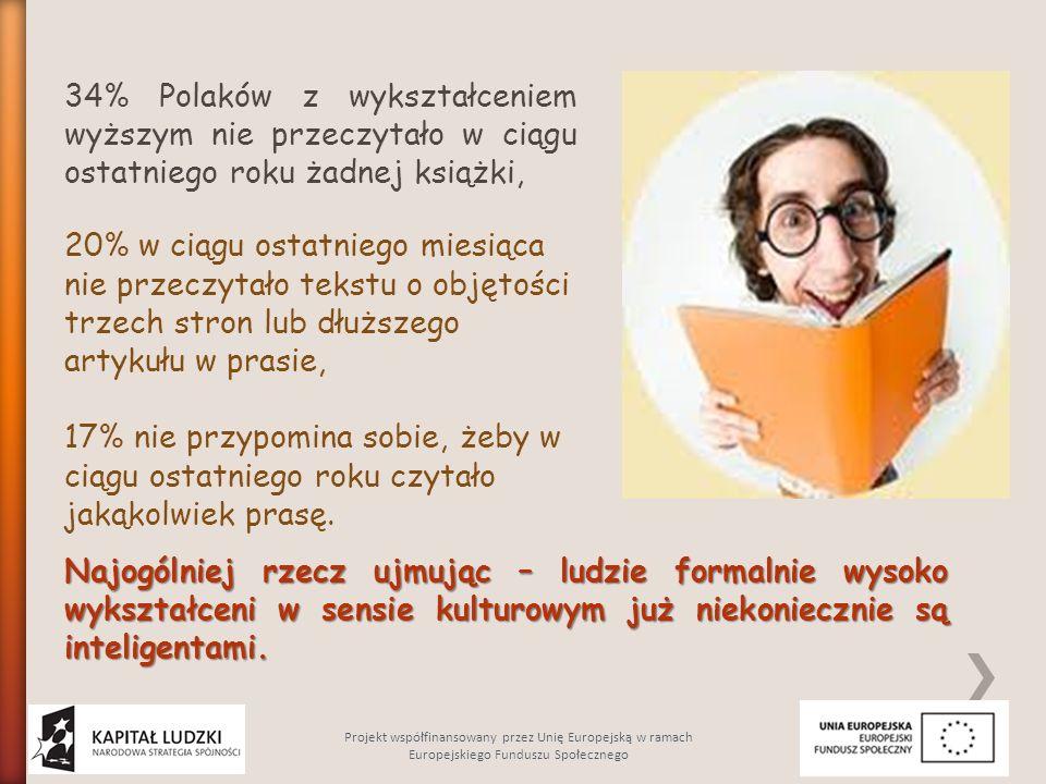 34% Polaków z wykształceniem wyższym nie przeczytało w ciągu ostatniego roku żadnej książki,