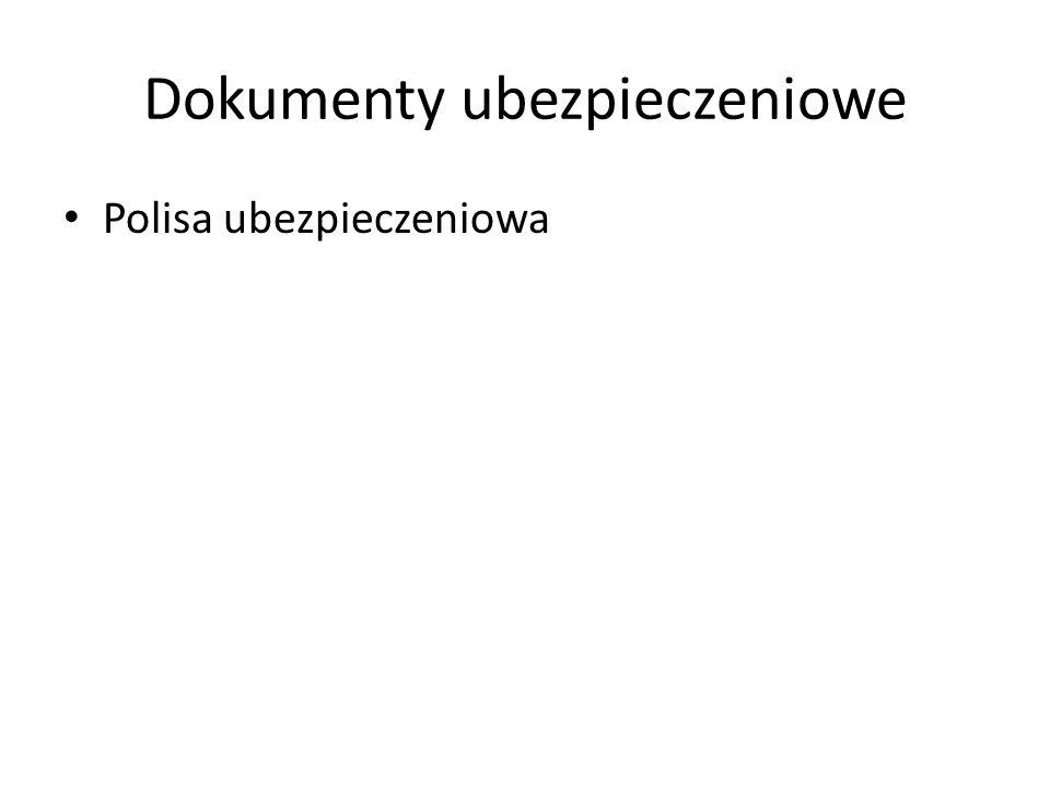 Dokumenty ubezpieczeniowe