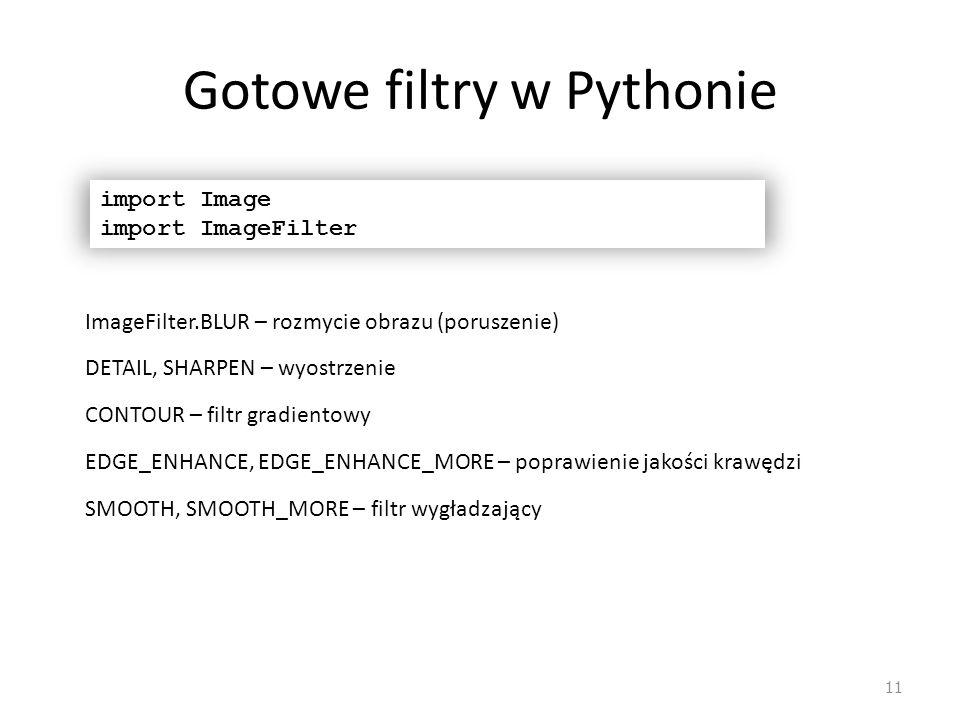 Gotowe filtry w Pythonie