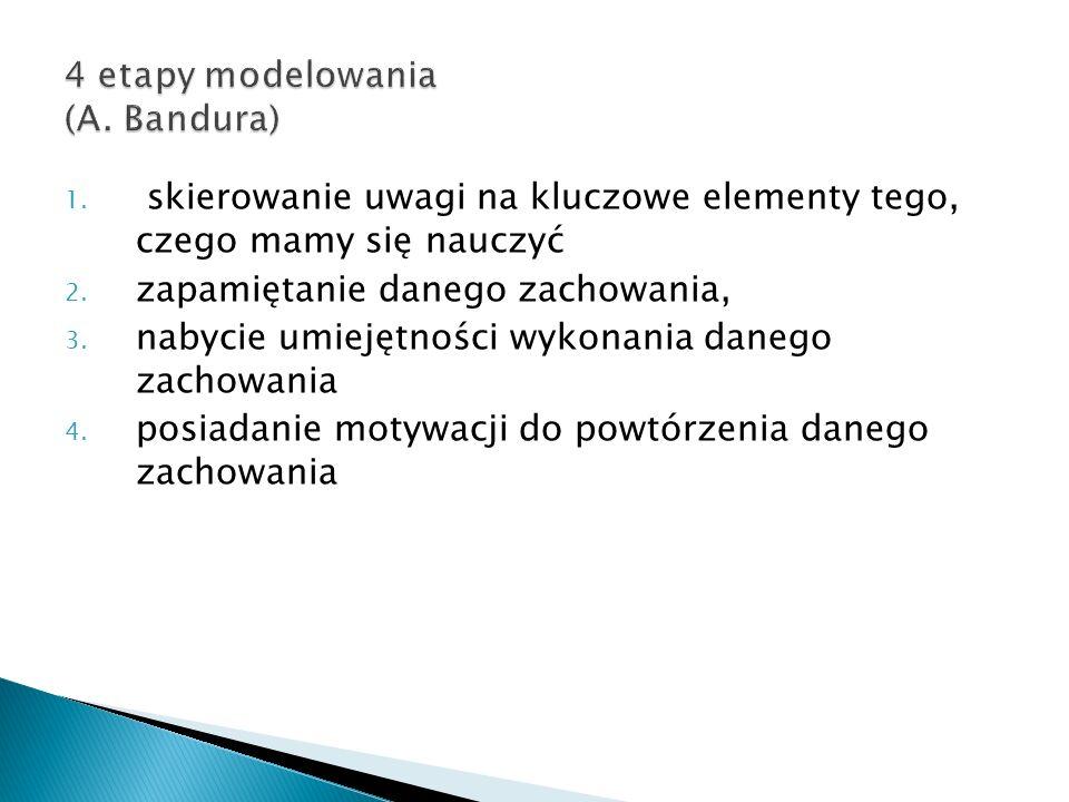 4 etapy modelowania (A. Bandura)