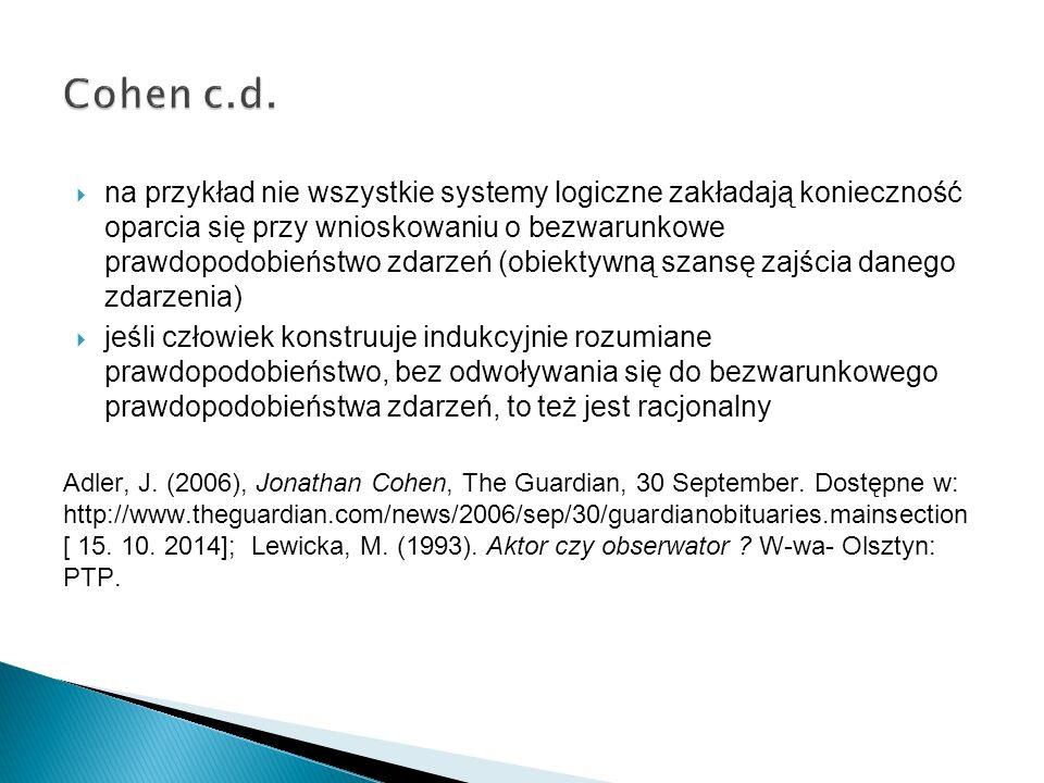 Cohen c.d.
