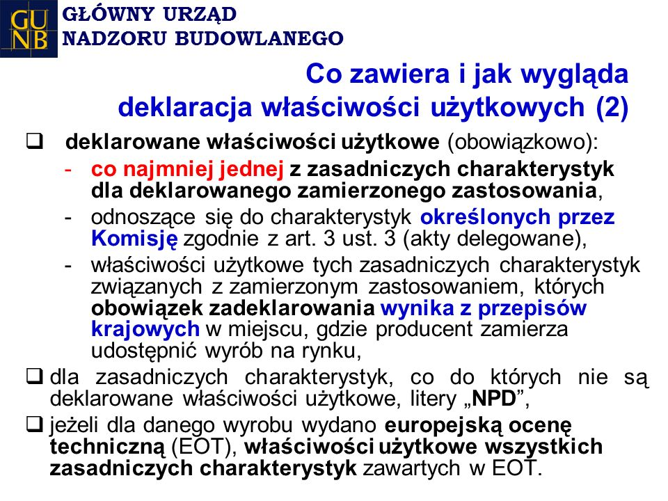 Co zawiera i jak wygląda deklaracja właściwości użytkowych (2)