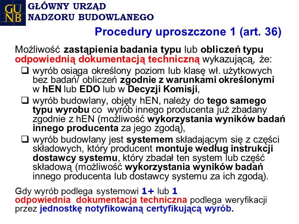 Procedury uproszczone 1 (art. 36)