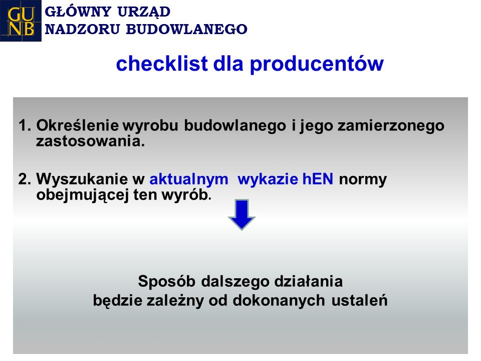 checklist dla producentów