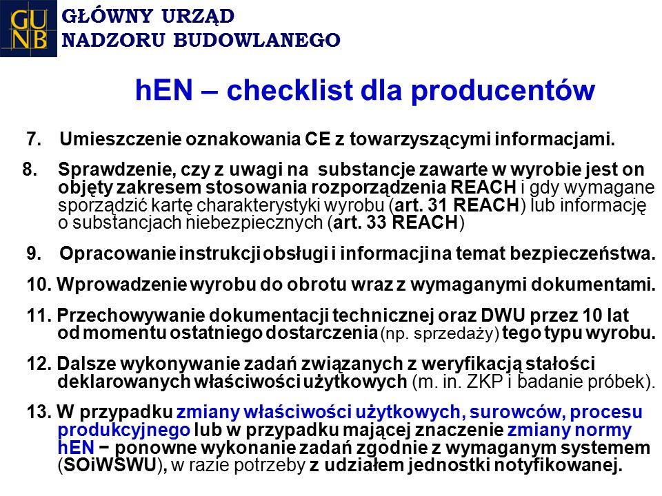 hEN – checklist dla producentów