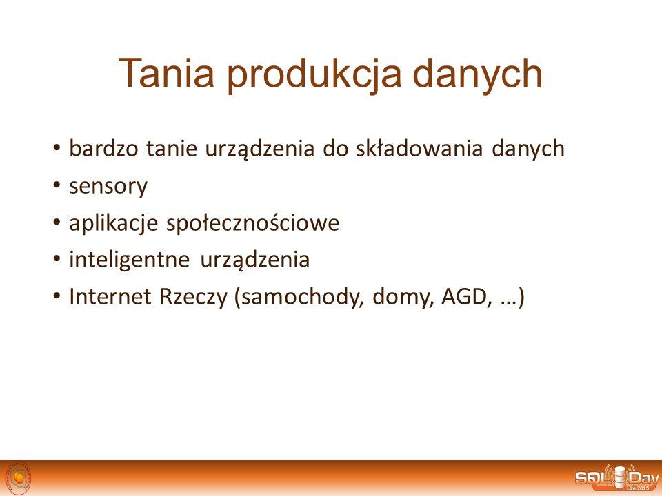 Tania produkcja danych