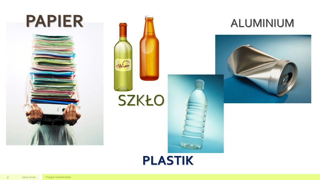 PAPIER ALUMINIUM SZKŁO PLASTIK 2012-07-22 Miejsce na tekst stopki