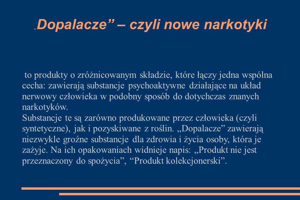 """""""Dopalacze – czyli nowe narkotyki"""