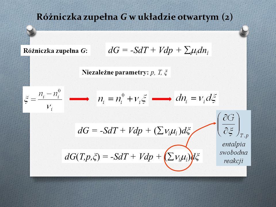Różniczka zupełna G w układzie otwartym (2)