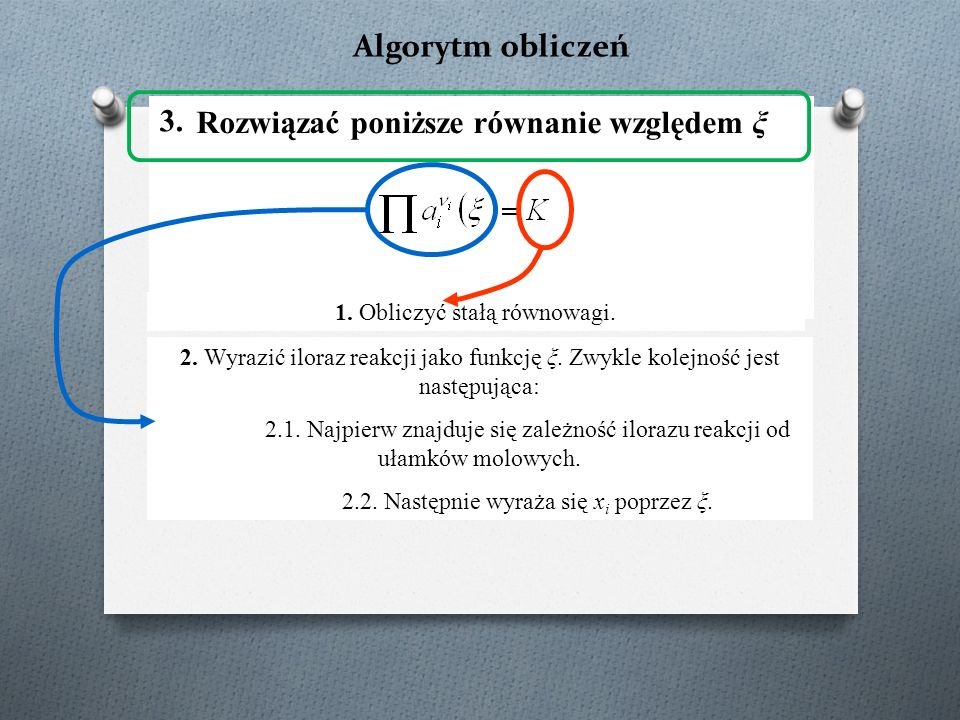 Rozwiązać poniższe równanie względem ξ