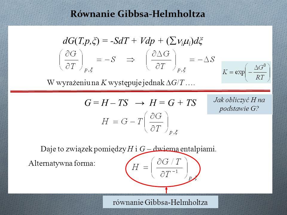 Równanie Gibbsa-Helmholtza