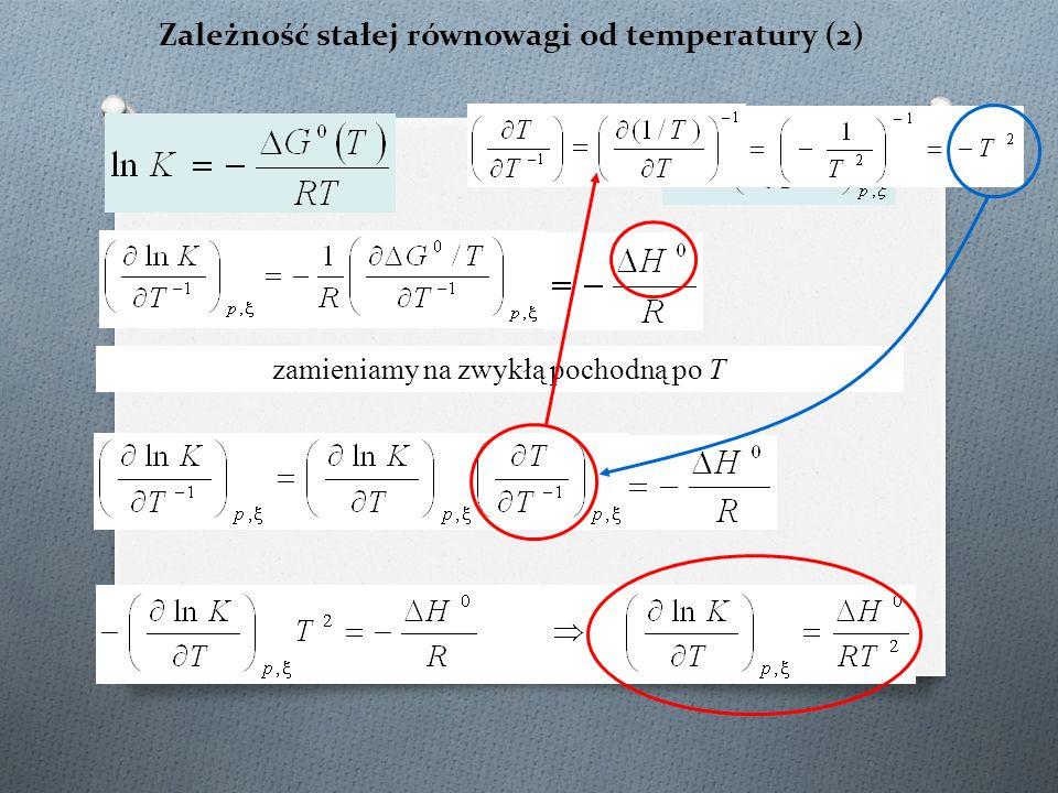 Zależność stałej równowagi od temperatury (2)