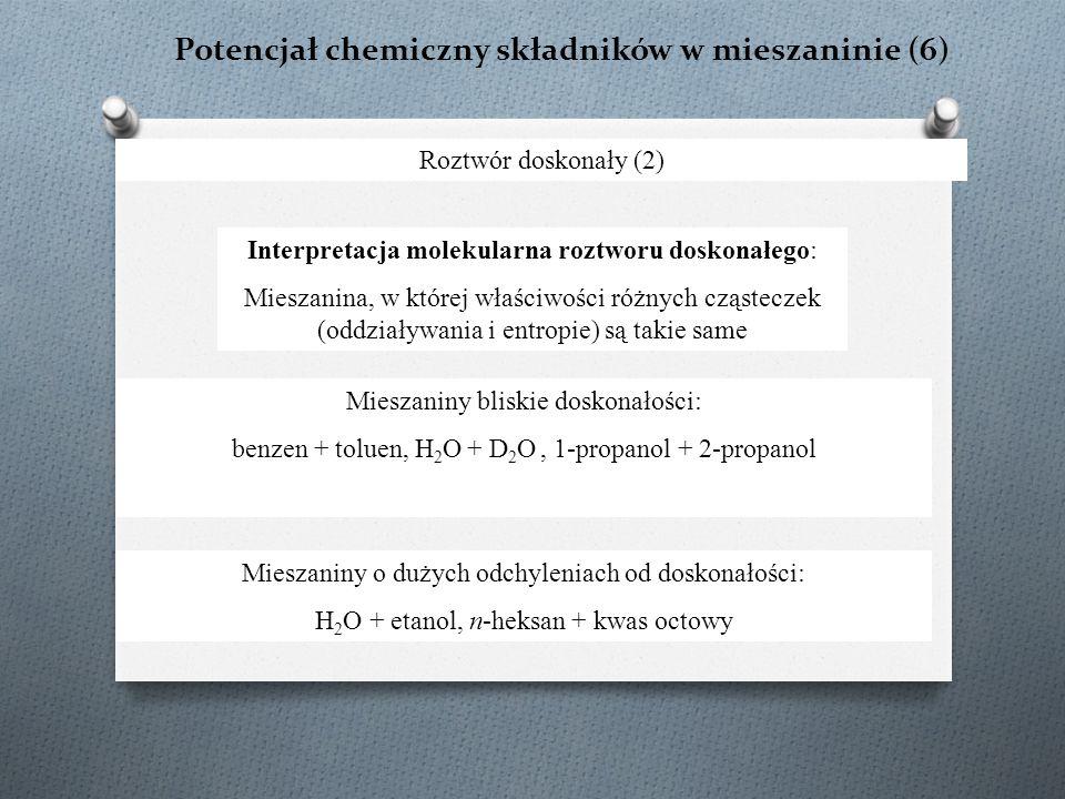 Potencjał chemiczny składników w mieszaninie (6)