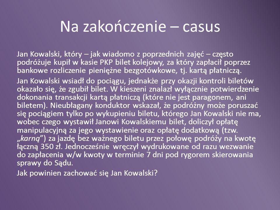 Na zakończenie – casus