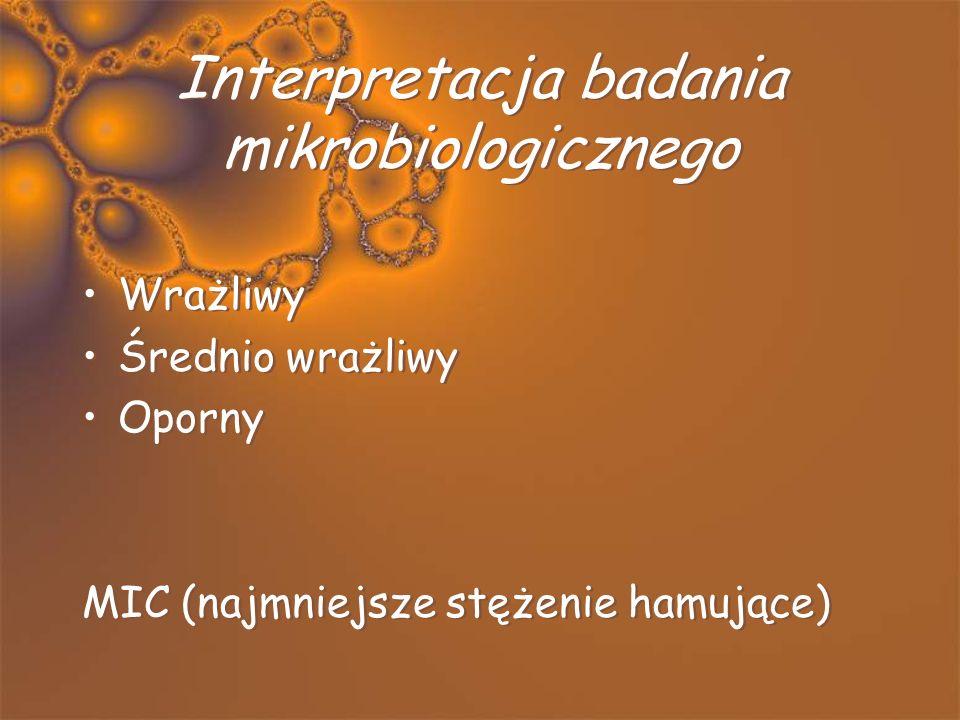Interpretacja badania mikrobiologicznego