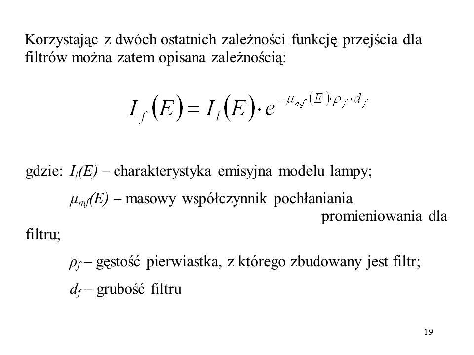 Korzystając z dwóch ostatnich zależności funkcję przejścia dla filtrów można zatem opisana zależnością: