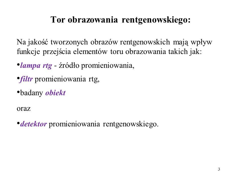 Tor obrazowania rentgenowskiego: