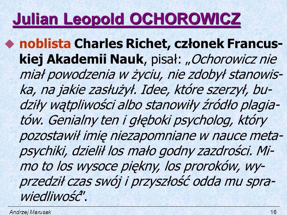 Julian Leopold OCHOROWICZ