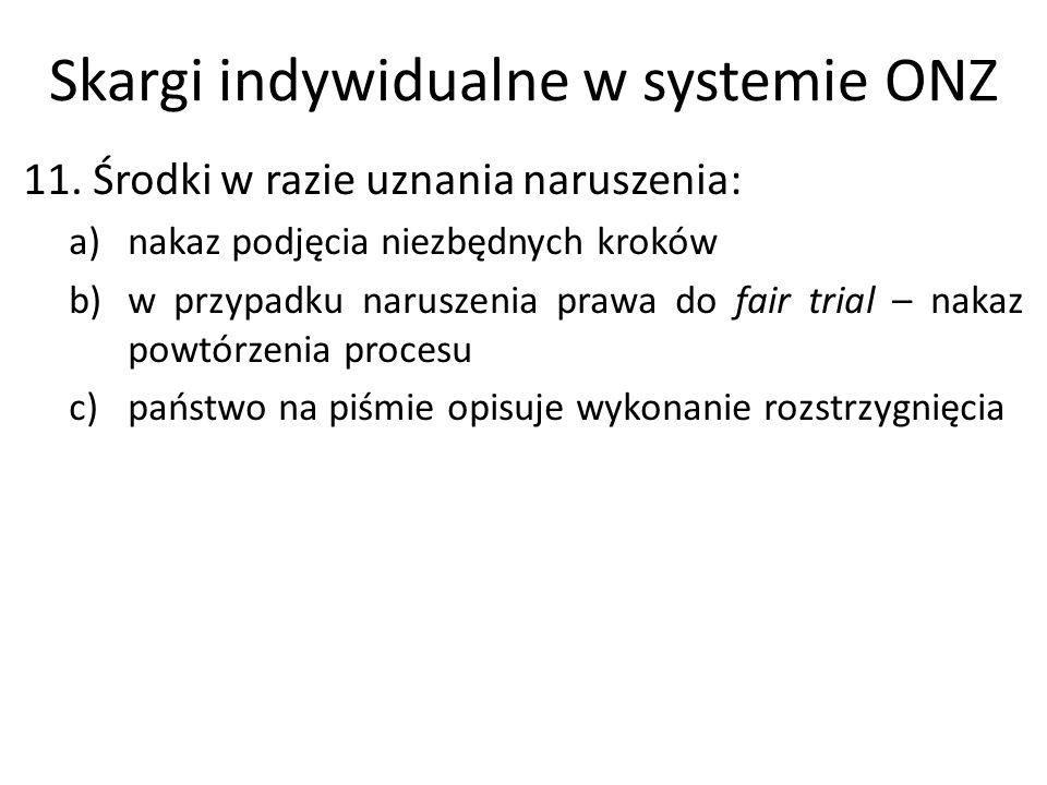 Skargi indywidualne w systemie ONZ