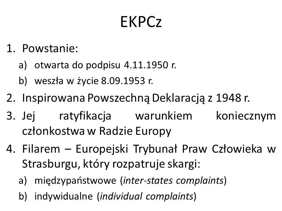 EKPCz Powstanie: Inspirowana Powszechną Deklaracją z 1948 r.