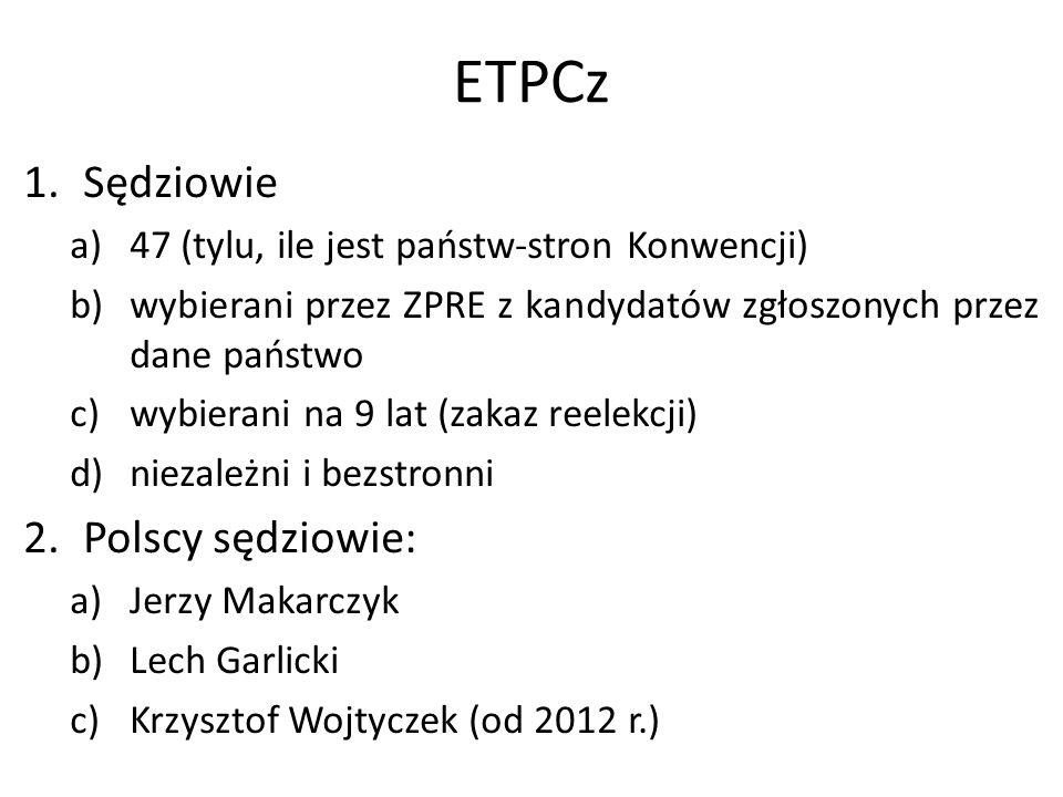 ETPCz Sędziowie Polscy sędziowie: