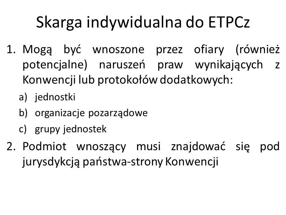Skarga indywidualna do ETPCz
