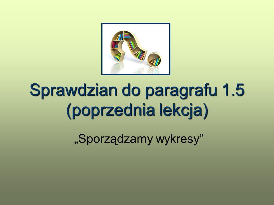Sprawdzian do paragrafu 1.5 (poprzednia lekcja)