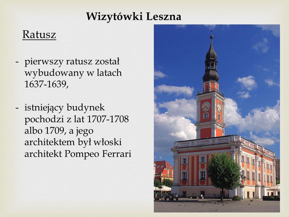 Wizytówki Leszna Ratusz