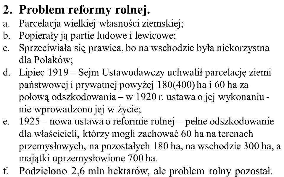 Problem reformy rolnej.