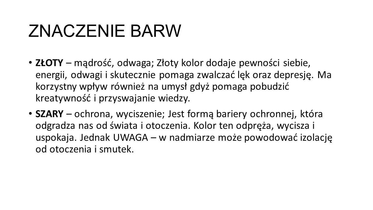 ZNACZENIE BARW