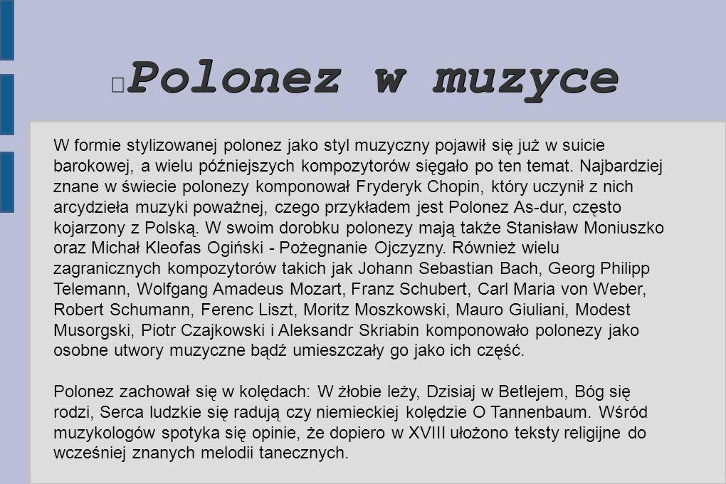 Polonez w muzyce