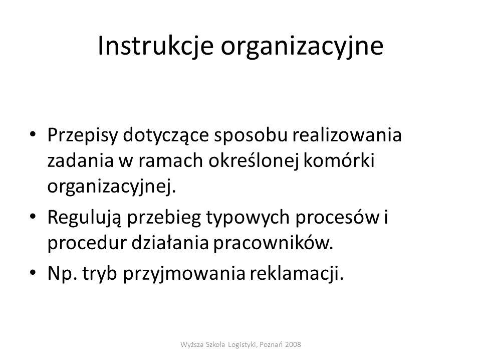 Instrukcje organizacyjne