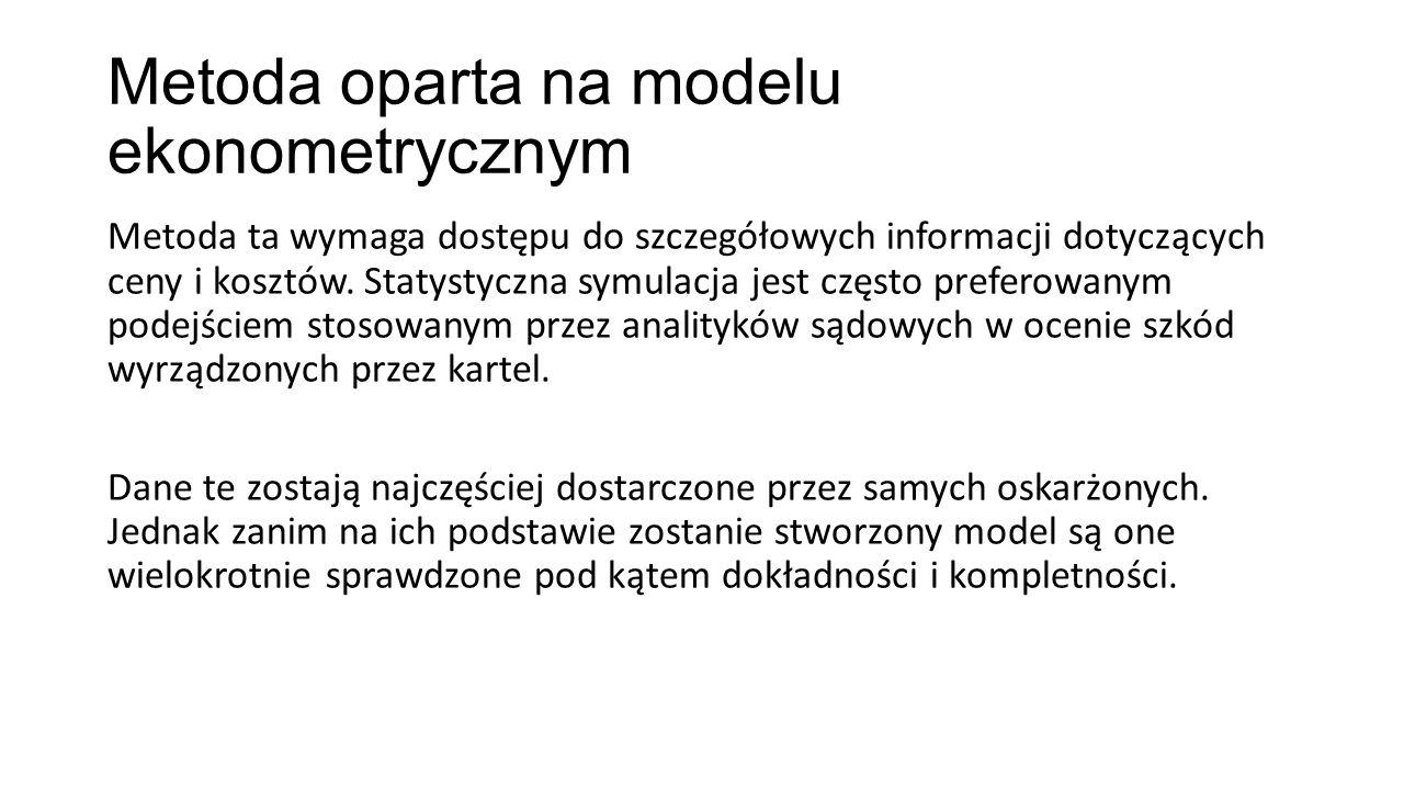 Metoda oparta na modelu ekonometrycznym