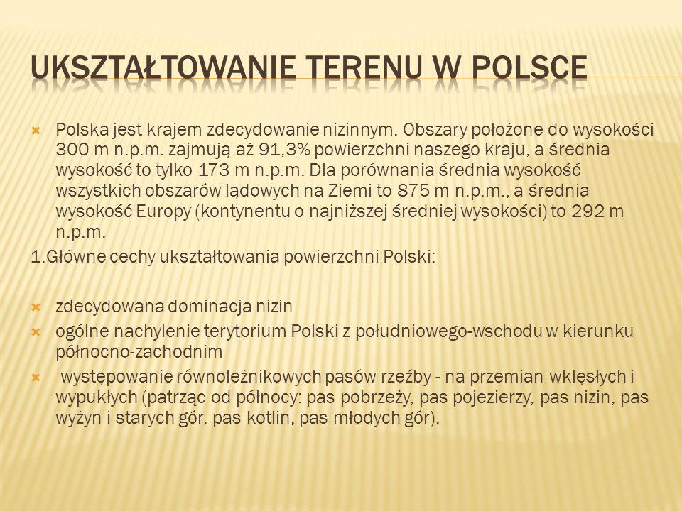 Ukształtowanie terenu w Polsce