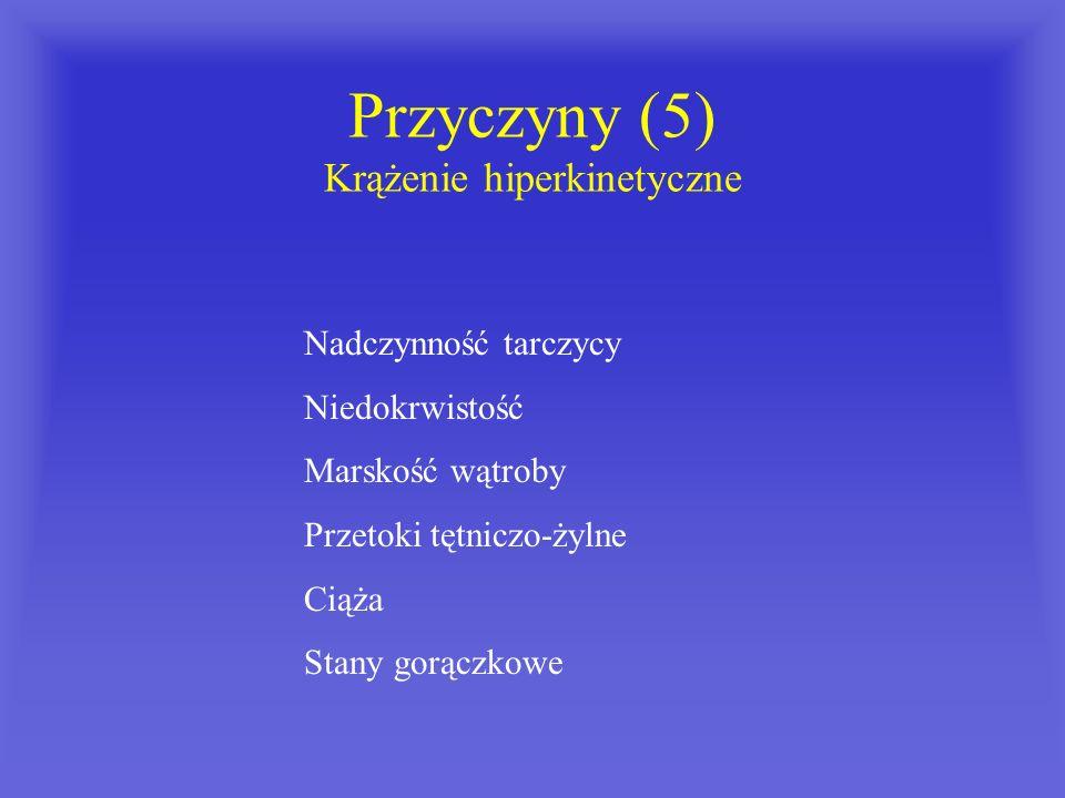 Przyczyny (5) Krążenie hiperkinetyczne