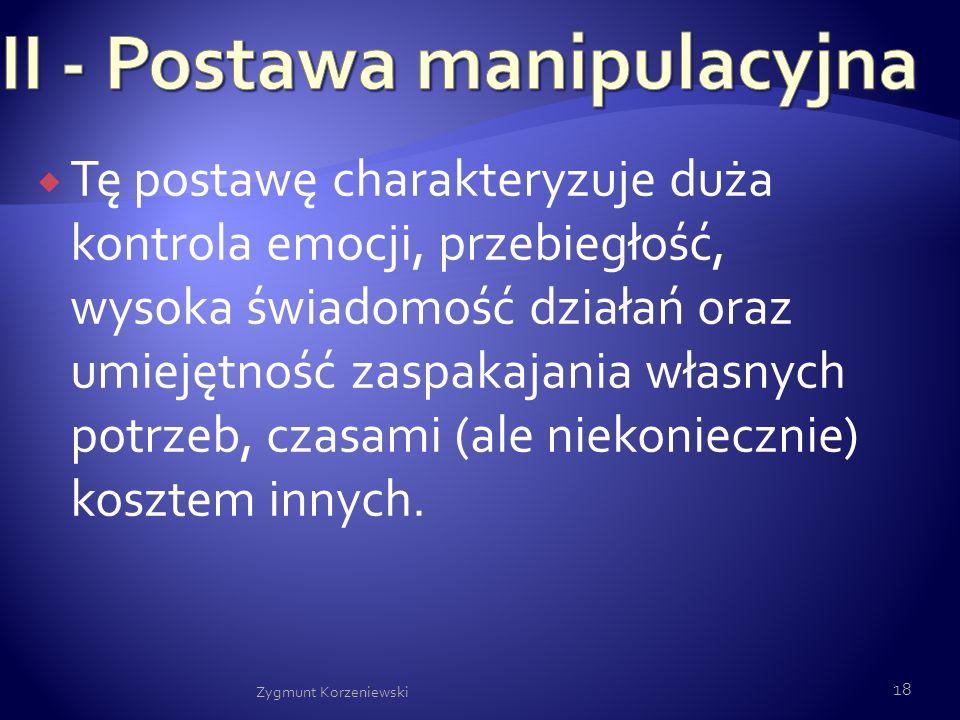 II - Postawa manipulacyjna