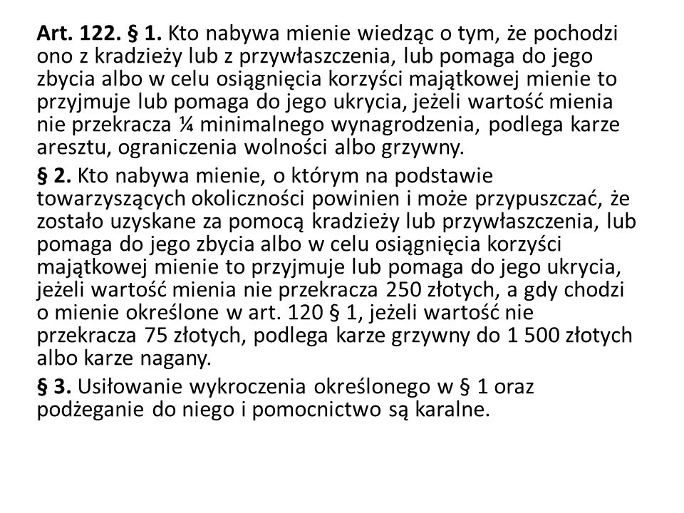 Art. 122. § 1.